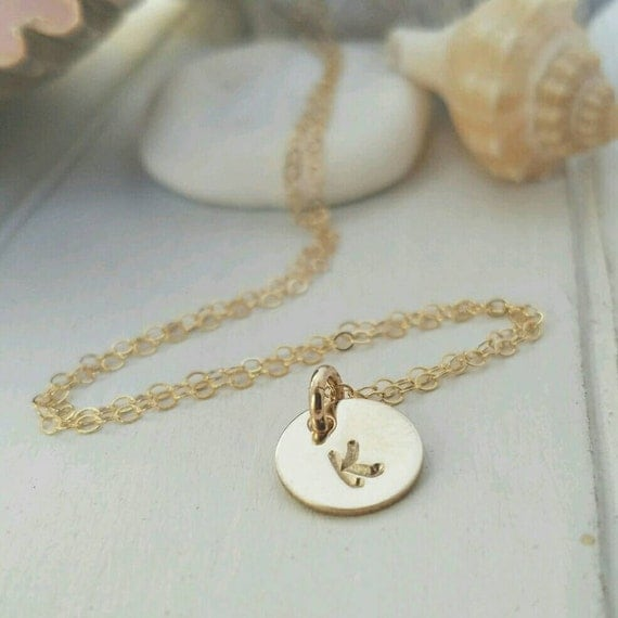 Gold Initial Necklace, Personalized Mother Necklace, 14kt Yellow or Rose Gold Filled, Initial Necklace, Minimalist Jewelry, Custom Initial