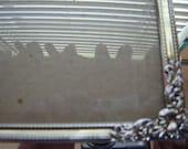 Vintage ornate silver frame 8x10 inch table frame easel back frame regency frame vintage retro chic frame