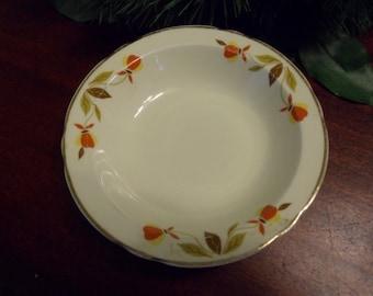 Hall Dinnerware Jewel T Berry Bowl, Hall Jewel T pattern, Hall Autumn Leaf  (T)