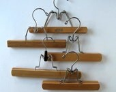 Lot of 5 Vintage wood Pants Hangers, Snapo, Closet Storage, Home and Living, gift idea