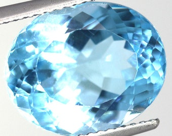 Natural Swiss Blue Topaz 9.50 Carat Gemstone Africa