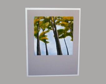 Pine Tree Art, Blank Fine Art Greeting Card, Stationary, Note Card, Pine Tree Card
