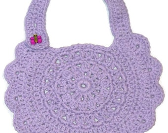 Baby Bib, Drool Bib, Lacy Bib, Infant Bib, Crochet Bib, Lavender