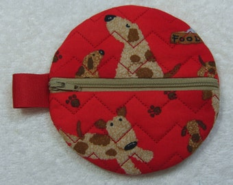 Round Zipper Case Pouch Jewelry Pouch Travel Pouch Ready to Ship