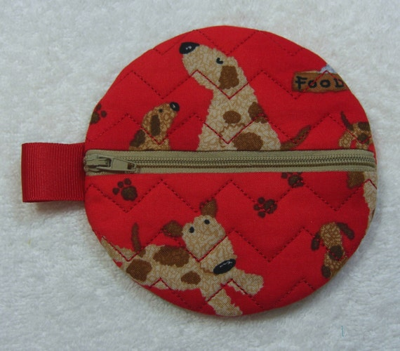 Asian round jewelry pouches