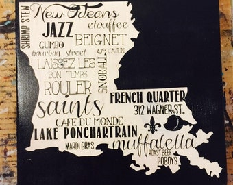 Characteristics of New Orleans (Small) 12x12