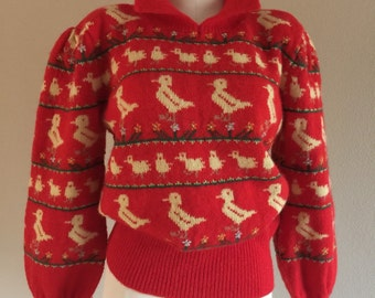 80s Moussie Wool Duck Sweater