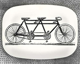 Bicycle built for two melamine platter