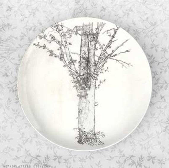Tree from Oldilon Redon on melamine plate