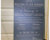 Wedding Ceremony Sign, Wedding Decoration, wedding programs, wedding program alternative,