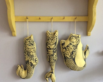 Fabric lavender pillows - yellow purrmaids