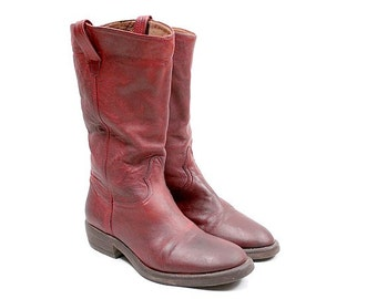 Red flat Boots Catarina Martins euro 37 us6