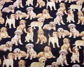 BEAUTIFUL Multi Design PUPPY DOGS Fabic   pattern  1/2 Yard - 100% Cotton By Timeless Treasures