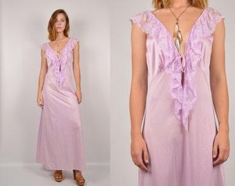 80's Lavender Slip Dress backless vintage