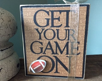 Football Wood Block Letters Sign Everyday Decor Gift for Athelete Sports Fanatic Gift Inspirational Sign Mantle Decor Shelf Decoration