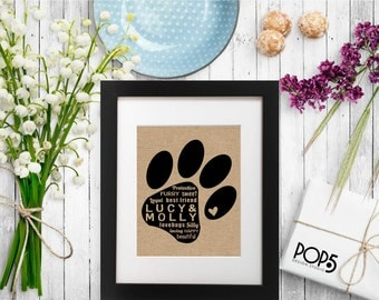 Burlap Wall Art - Personalized Customized - Mothers Day, Holiday Gift, Birthday Gift, Unique Gift - Pet Lover Dog Lover Cat Lover