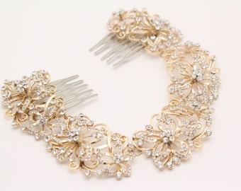 Wedding headband Gold Boho Hair Halo,Bridal Pearl Flower Hair Crown,Hair Vine,Hair Wreath,Wedding Pearl Hair Vine,Boho Wedding Headpiece
