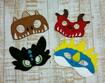 train your dragon Inspired Mask- Dress up mask How to Train Your Dragon Inspired Felt Mask Party Favor, Dress Up, Imagination, Play, Costume