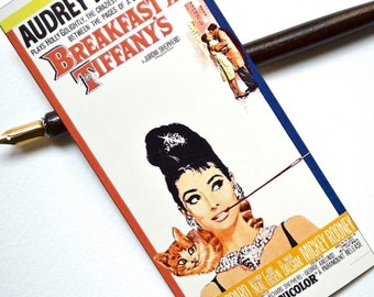 Bookmark - Audrey Hepburn - Vintage Movie Poster - Handmade