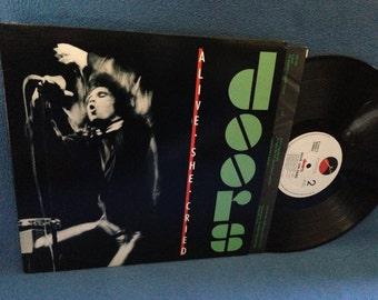 "RARE, Vintage, The Doors - ""Alive She Cried"", Vinyl LP, Record Album, Original First Press, LIVE , Jim Morrison, Light My Fire, Gloria"