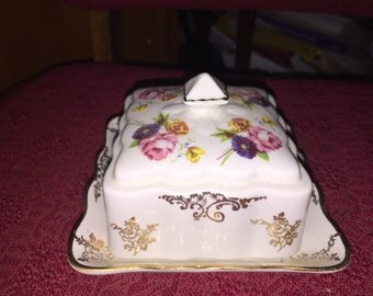 James Kent Old Foley Porcelain Butter Dish