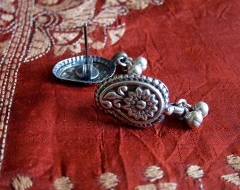 Silver Earrings - Paisley