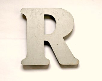Vintage Silver Shop Pub Sign Letter 'R'