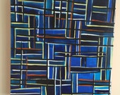 20 x 20 inch acrylic on canvas painting entitled Modernism