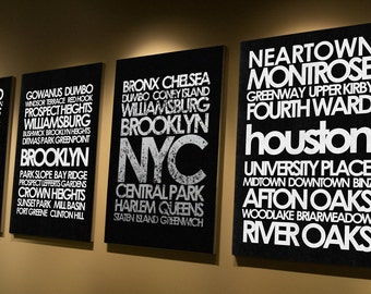 Houston subway canvas or print, cheap art, custom design your own
