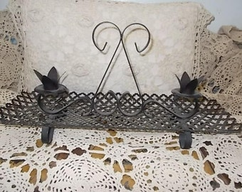 Metal Black  Candle Holder Sweet /Not Included in Coupon Discount Sale /New Listing