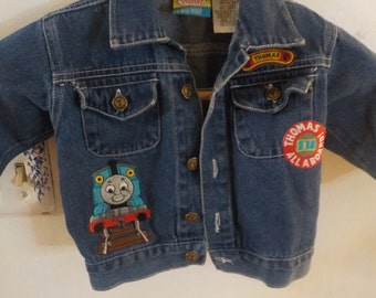 Thomas the Train Levi Jacket Size 2 ,Levi Jacket, Boys Levi Jacket, Trains, Thomas the Train, Train Levi Jacket, Denim Boys Jacket :)S