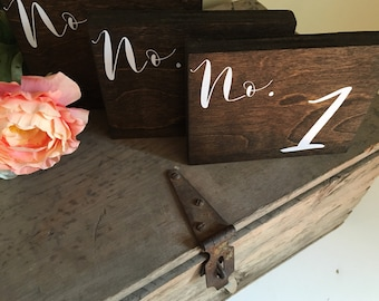 Rustic Wedding Table Numbers- Fall/Spring/Summer/Winter Wedding Centerpiece