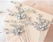 Rhinestone Hair Pins,Bridal Hair Pins,Wedding Hair Pins,Crystal Hair Pins,Bridal Hair Piece,Wedding Hair Piece,Sparkly Hair Pins