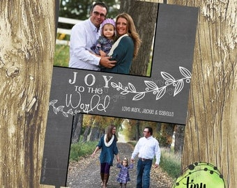 Joy to the World, Holiday Cards, Christmas Cards, DIY Printable, digital file (item 1504)