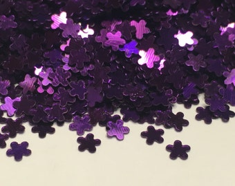 Tiny purple shinny flower confetti , 3 mm (23)+