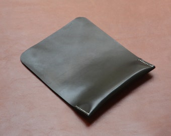 Leather Mouse Pad, Ergonomic Wrist Rest Support, Premium Italian Leather, Black, Free Shipping