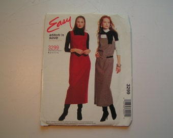 McCalls Easy stitch n save Pattern 3299 Miss Jumper