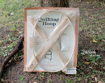 "Ward's Quilting Hoop - Oval Frame with Floor Stand - Vintage 18"" X 27"" Quilting Hoop - NOS"