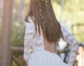 "Wedding Dress, Lace Wedding Gown, Long Bridal Gown, Ivory Bridal Dress, Wedding Gown, SuzannaM Designs, Long Sleeve Wedding Dress, ""Agape"""