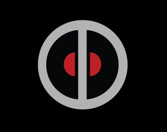 Deadpool's belt buckle logo