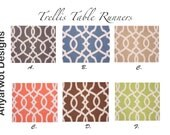 Trellis  Table Runner-Trellis  Table .Chain Link Table Runner.