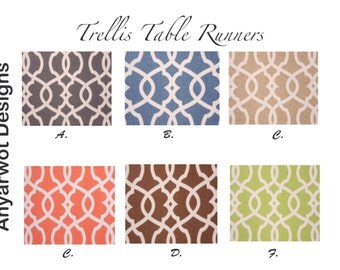 Trellis  Table Runner-Trellis  Table .Chain Link Table Runner.