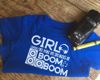 Limited speakers go boom boom shirt