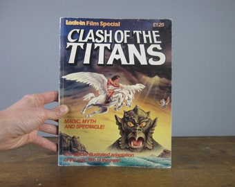 Clash of the Titans Vintage Graphic Novel  / 1981 / Ray Harryhausen / Movie Adaptation / Retro book / cult Film / Greek Mythology / *348