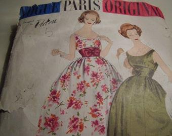 Vintage Vogue 1448 Paris Original Patou Evening Gown, Short Length, Size 12, Bust 32