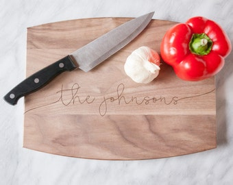 Personalized Cutting Board, Engraved Cutting Boards, Wedding Gift, Bridal Shower Gift, Anniversary Gift, Housewarming Gifts, Wooden Board