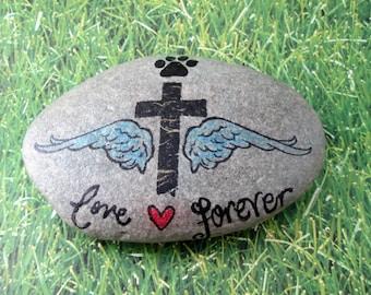 Pet memorial stone burial rock pet memory grave stone marker