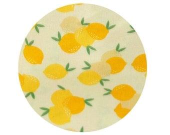 Lemons Cotton Fabric, Fruits Cotton Fabric, Yellow Lemon Fabric - Digital Printing - Fabric By the Yard 85788