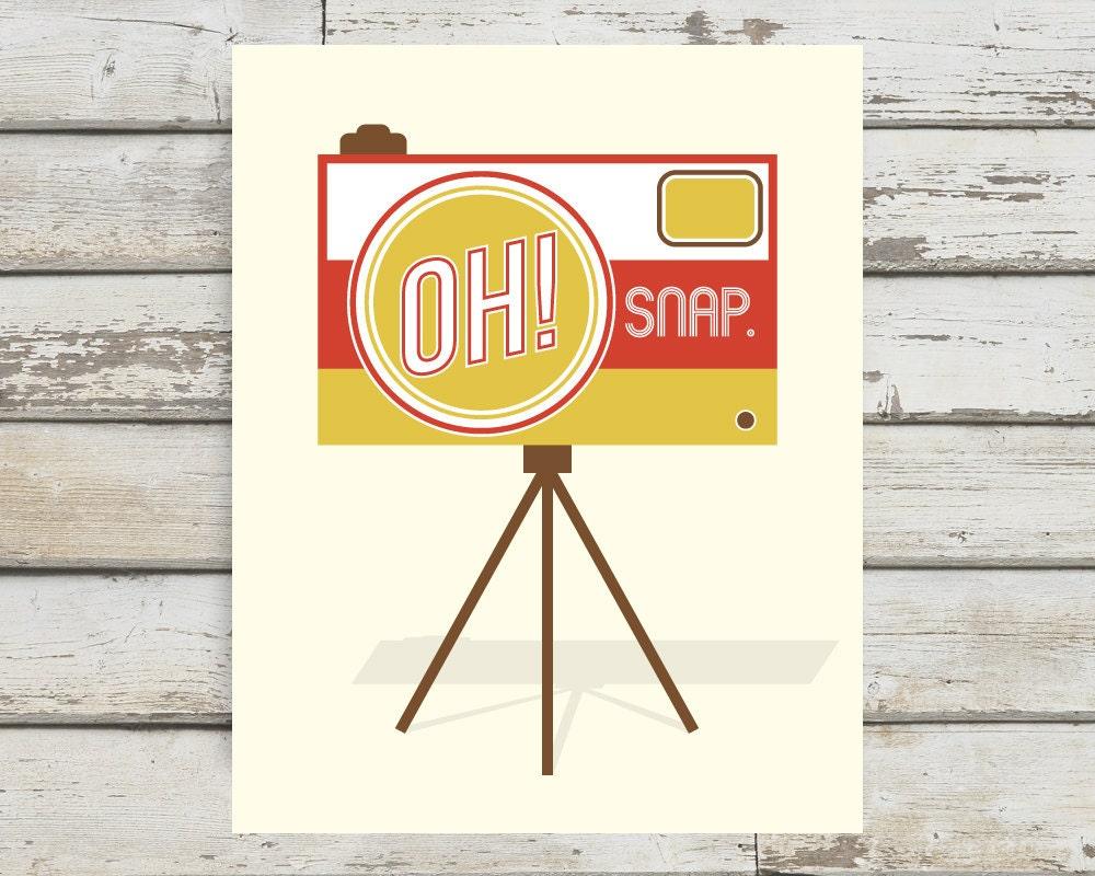 Oh Snap! Camera, Camera Print, Camera Poster, Camera Wall Art ...