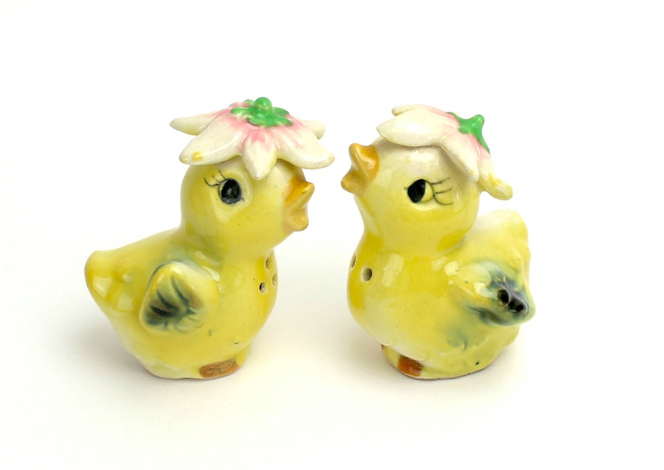Vintage Bird Salt And Pepper Shakers Yellow By
